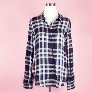 Romeo + Juliet Couture Plaid Button Down Shirt